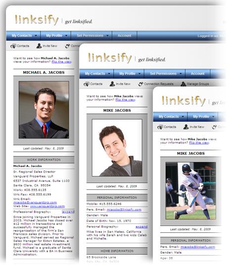 3 profile graphic
