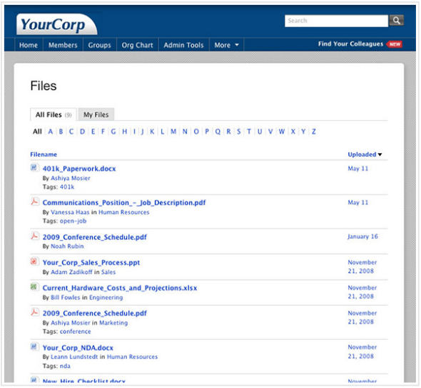 Yammer File Directory