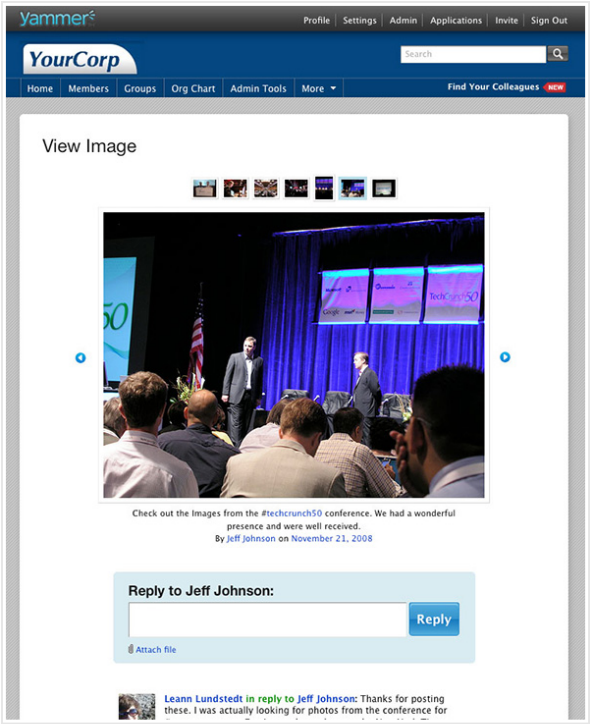 Yammer Image Attachments