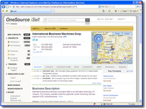 Infogroup OneSource iSell Screenshot