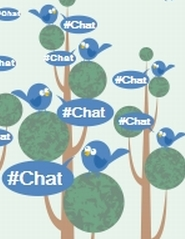 Twitter chat tree graphic