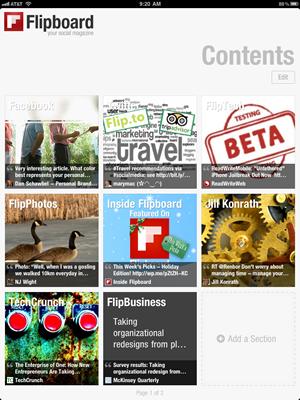 Flipboard Screen capture