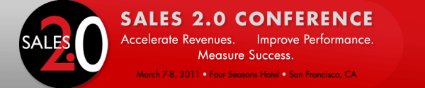 Sales 20 Conference Logo and Registration link for March 2011