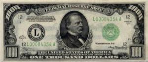 US $1000 bill