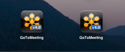 Both versions of GoToWebinar iPad Client image