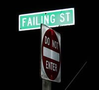 Failing St sign
