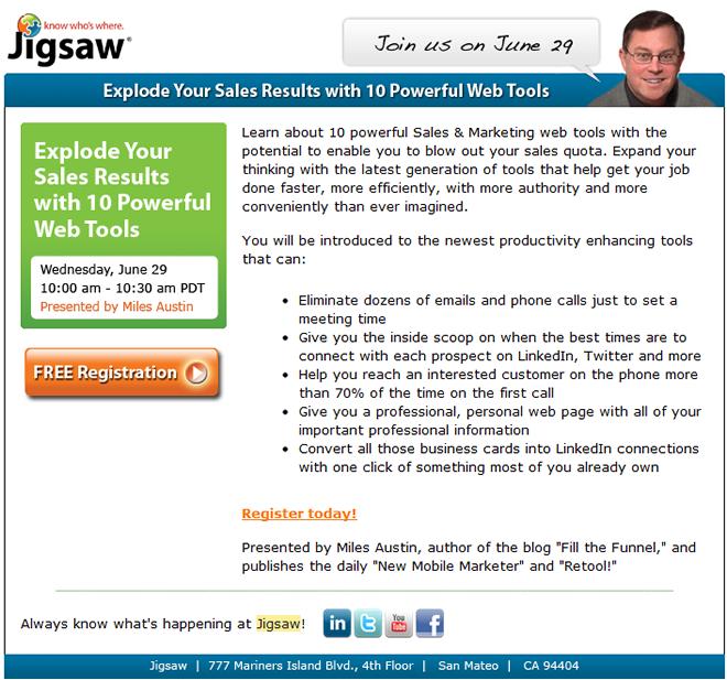 Jigsaw Webinar Invitation