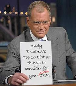 David Letterman Social CRM Top 10 Graphic