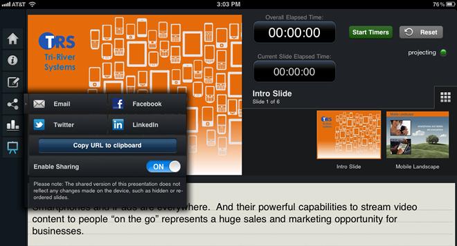 SlideShark Notes View Screen