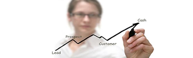 Sales growth line upwards