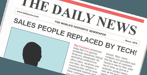 Sales People Replaced Headline