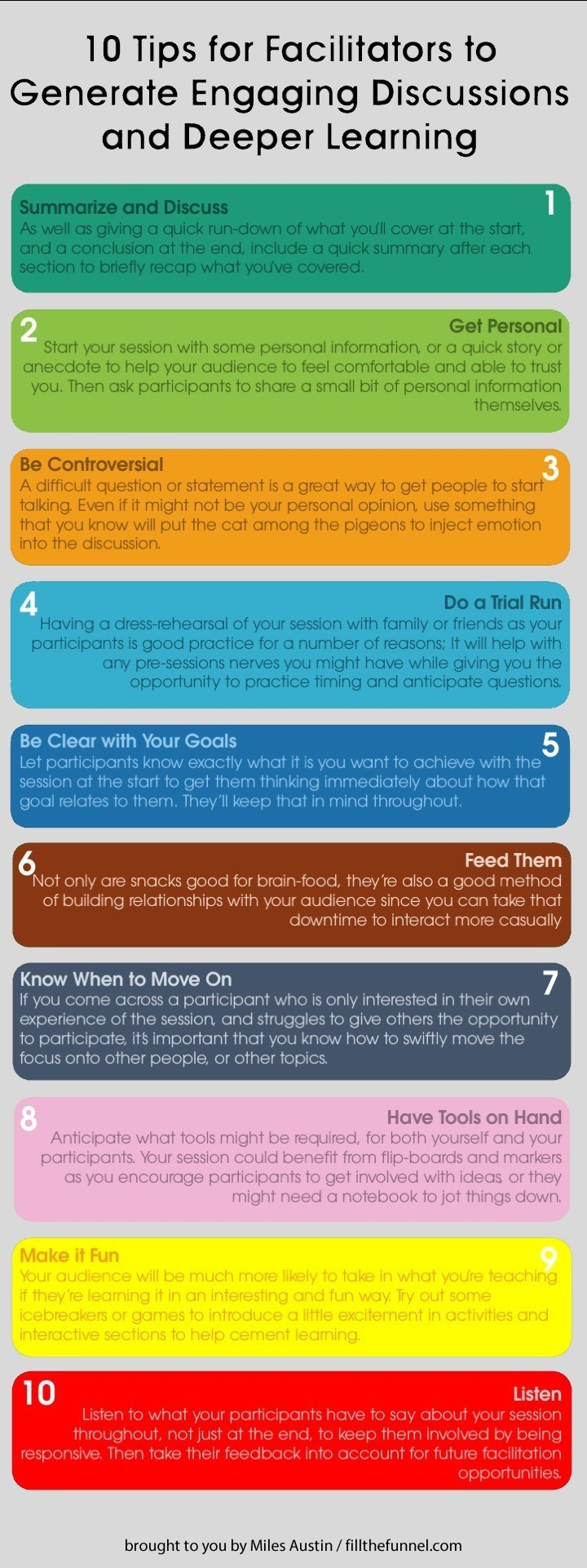 Facilitator Tips Infographic