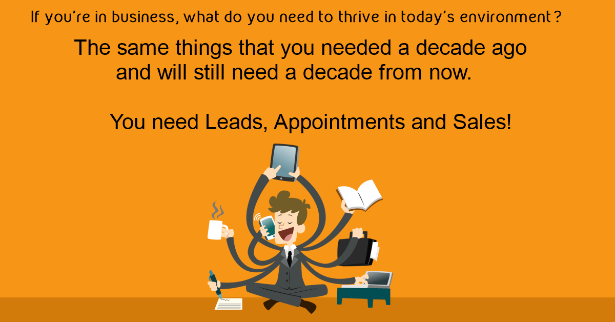 Leads appointments and sales